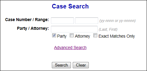 basic case search